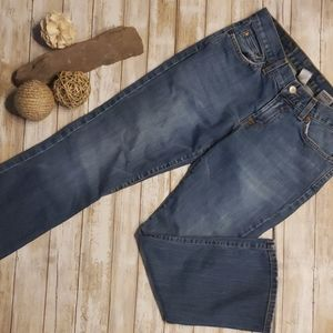 LUCKY LOWERED PEANUT ANKLE CROP JEANS SZ 2/26